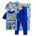 Toddler Boy Paw Patrol Chase, Rubble, Marshall, & Skye Tops & Bottoms Pajama Set