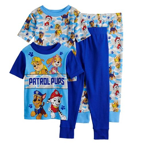 Toddler Boy Paw Patrol Chase, Rubble, Marshall, & Skye Tops & Bottoms Pajama Set