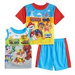 Toddler Boy Paw Patrol 3 Piece Pajama Set