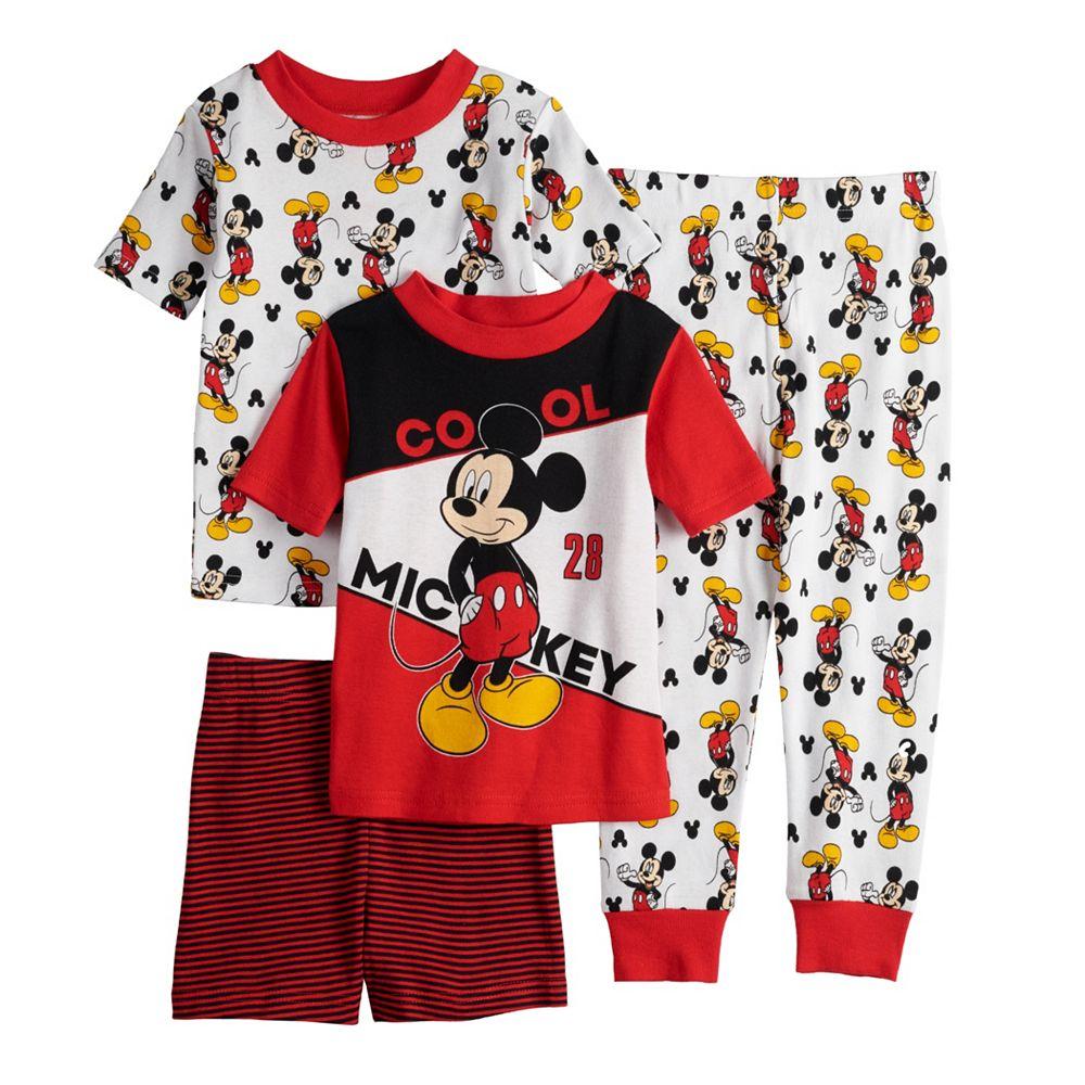 Disney's Mickey Mouse Toddler 4 Piece Pajama Set