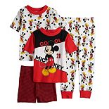 Disney's Mickey Mouse Toddler 4 Piece Pajama Set