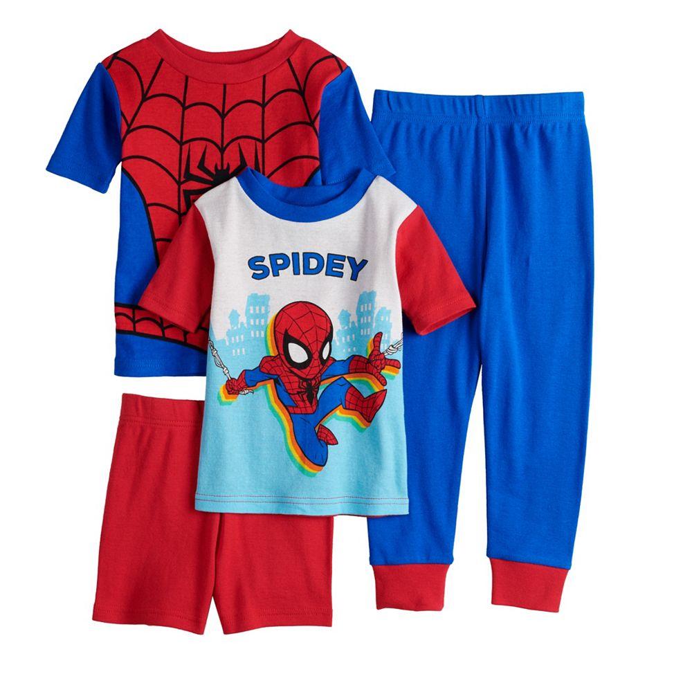 Toddler Boy Marvel Spider-Man 4 Piece Pajama Set