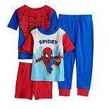 Toddler Boy Marvel Spider-Man 4 Piece Pajama Set
