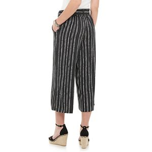 Juniors' Candie's® Belted Cropped Wide Leg Pants