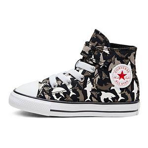 Toddler Boys' Converse Chuck Taylor All Star 1V Shark Bite High Top Shoes