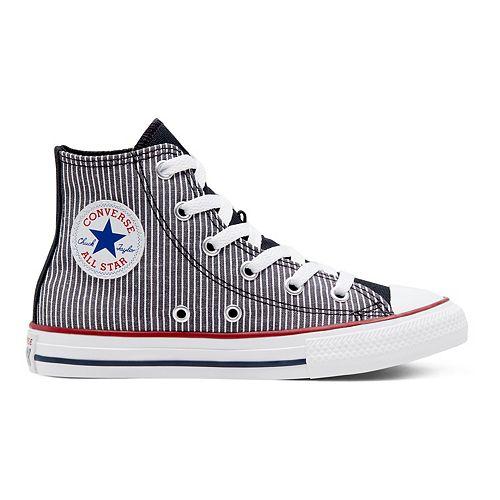Boys' Converse Chuck Taylor All Star Pinstripe High Top Shoes