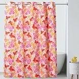 Hookless Kids Flutter Butterfly Shower Curtain & PEVA Liner