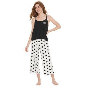 Juniors' SO® Pajama Cami & Crop Pajama Pants Set