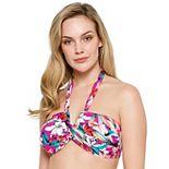 Women's Apt. 9® Floral Bandeau Halter Bikini Top
