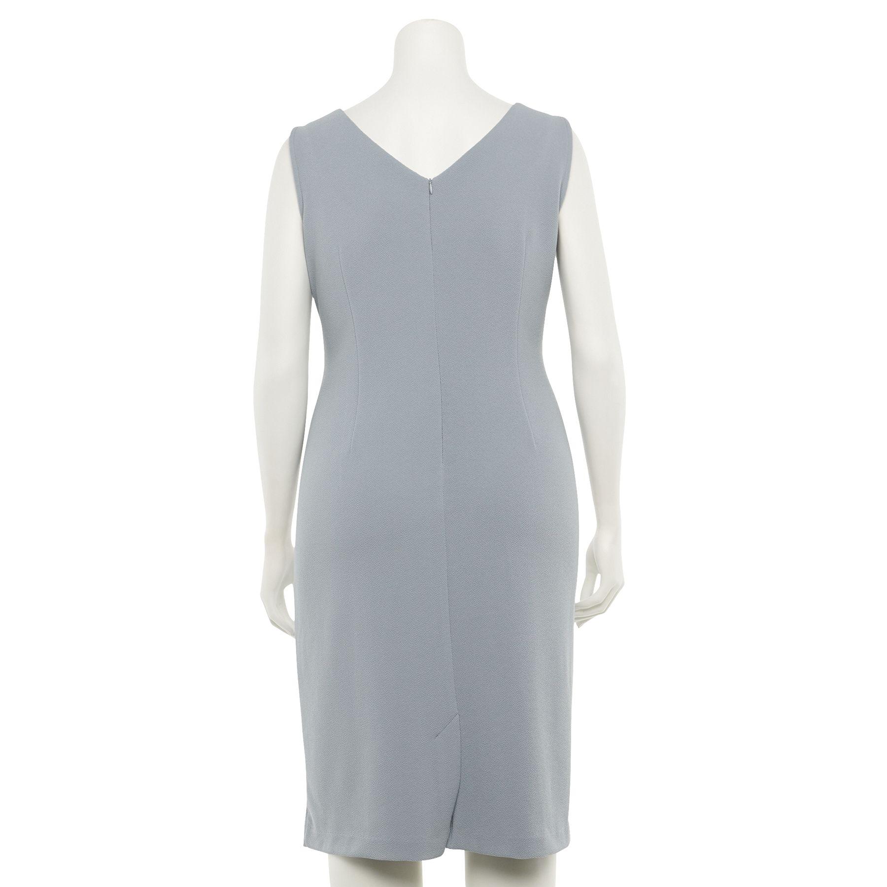 Plus Size Maya Brooke Sheath Evening Dress & Georgette Jacket Set