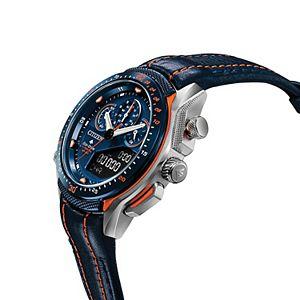 Citizen Eco-Drive Men's Promaster SST Leather Chronograph Dive Watch - JW0139-05L