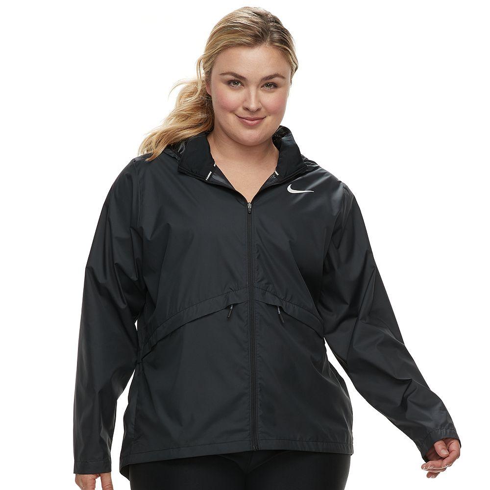 Plus Size Nike Hooded Running Jacket