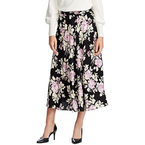 Women's Chaps Pleated Woven Skirt