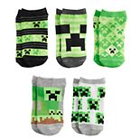 Boys 8-20 Minecraft 5-Pack Fashion Creep Socks