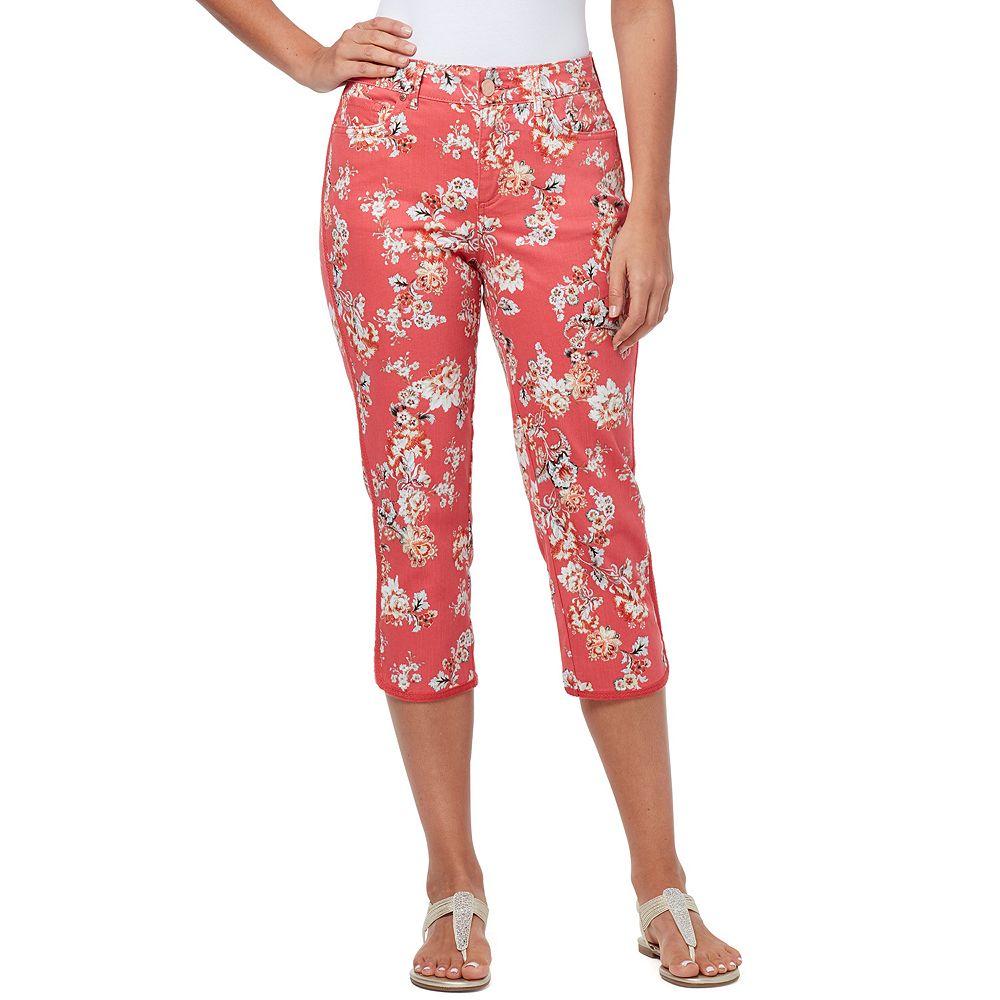 Women's Bandolino Mandie Curved-Hem Capri Jeans