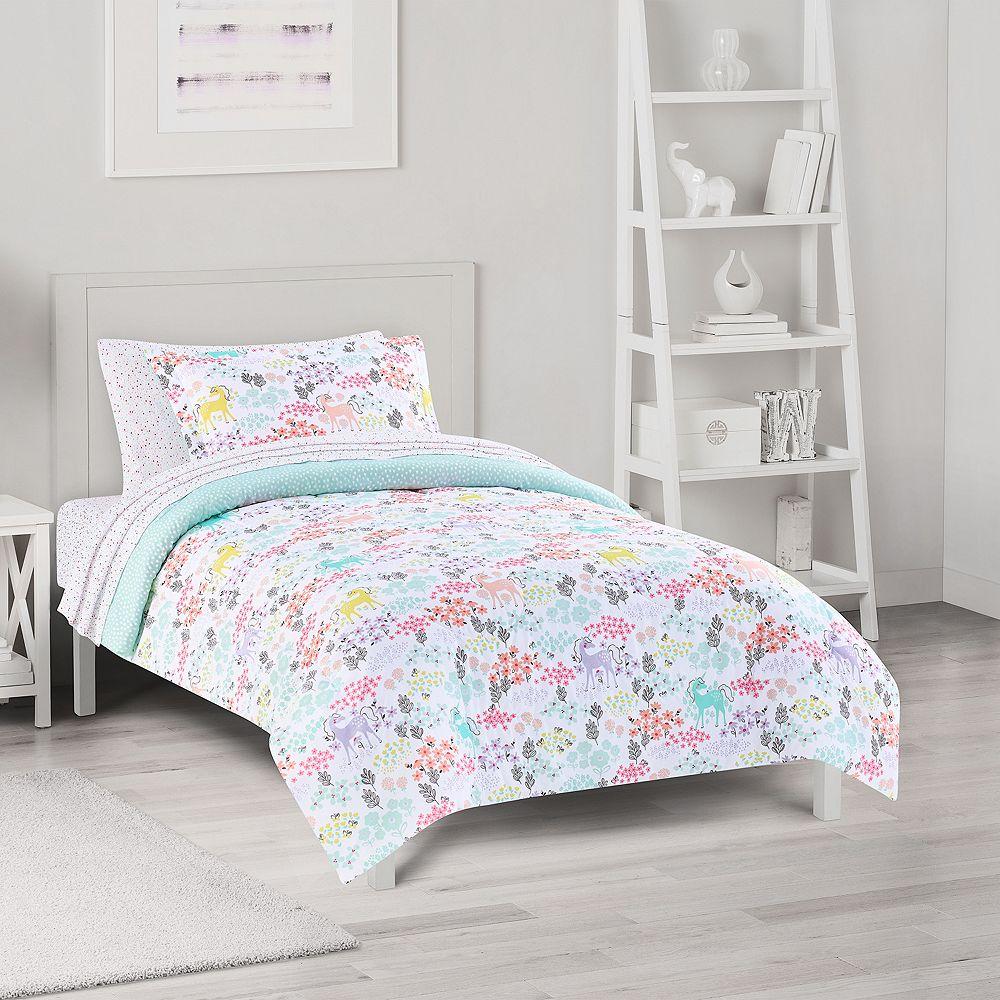 The Big One® Kids Reversible Sophia Unicorn Comforter Set with Sheets