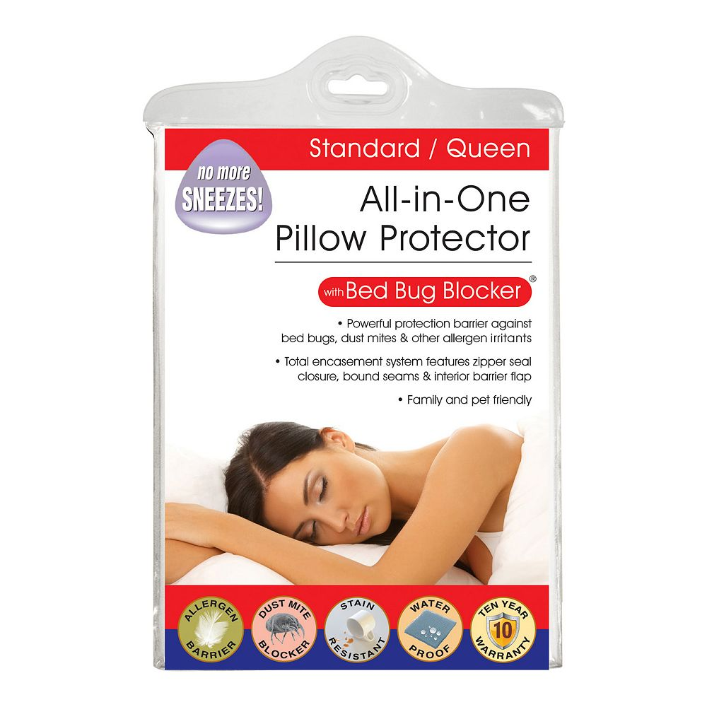 Fresh Ideas Cotton Rich Pillow Protectors with Bed Bug Blocker