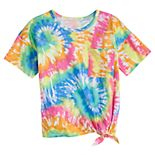 Girls 4-20 & Plus Size SO® Tie-Front Tee