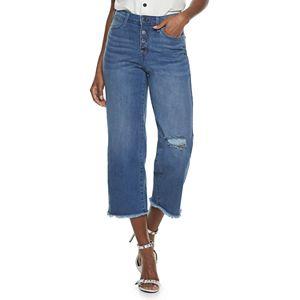 Women's Jennifer Lopez High-Waisted Straight-Leg Crop Jeans