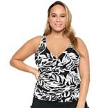 Plus Size Apt. 9® Plus Crossover Floral Tankini