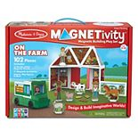 Melissa & Doug Magnetivity Magnetic Tiles Building Play Set-On the Farm with Tractor Vehicle