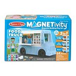 Melissa & Doug Magnetivity Magnetic Tiles Building Play Set - BBQ, Ice Cream, Taco Food Truck Vehicle