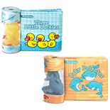 Melissa & Doug Children's Books 2-Pack - Float-Alongs: 3 Little Duckies; Baby Dolphins (Bath Books + Floating Toys)