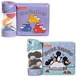 Melissa & Doug Children's Books 2-Pack - Float-Alongs: Playful Penguins; Tiny Tugboats (Bath Books + Floating Toys)