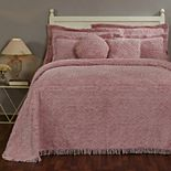Better Trends Double Wedding Ring Cotton Chenille Bedspread or Sham