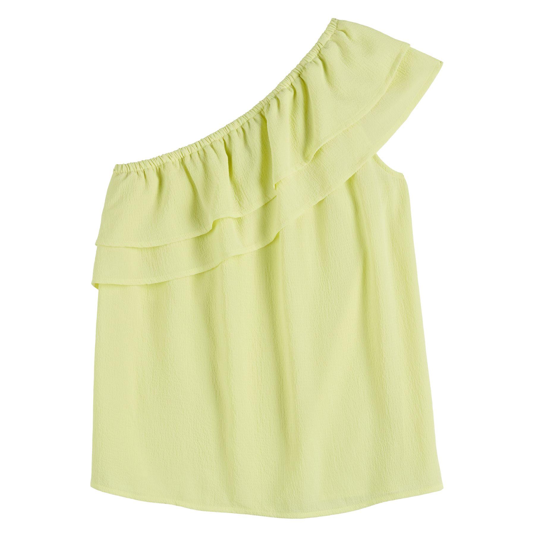 Women's Apt. 9® Ruffled One-Shoulder Top