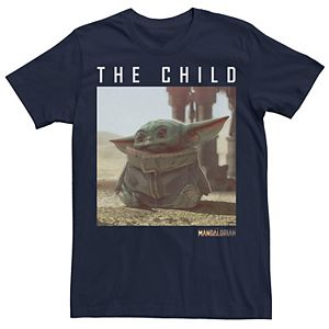 Men's Star Wars The Mandalorian The Child aka Baby Yoda Text Portrait Tee