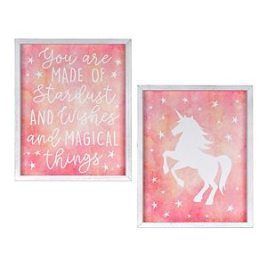 New View Gifts & Accessories Unicorn Wall Art 2-Piece Set