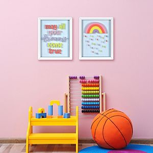 New View Gifts & Accessories Rainbow Shadowbox Wall Art 2-Piece Set