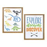 New View Gifts & Accessories Dinosaur and Explore Wall Art 2-Piece Set