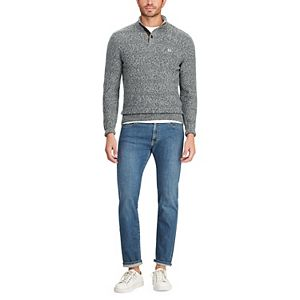 Men's Chaps Classic-Fit Button Mockneck Pullover Sweater
