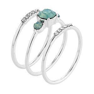 Brilliance Stack Ring Set with Swarovski Crystals