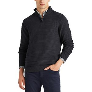 Men's Chaps Classic-Fit Textured Quarter-Zip Sweater
