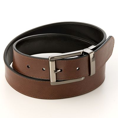 Dockers Reversible Bridle Leather Belt - Extended Size
