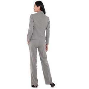Women's Le Suit Peak Lapel Novelty Pantsuit Set