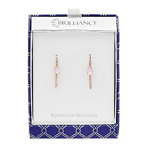 Brilliance Chain Drop Earrings with Swarovski Crystal