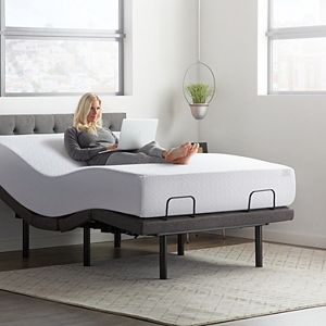 Lucid Dream Collection 12-in. Medium-Plush Memory Foam Mattress with Elevate Adjustable Bed Base