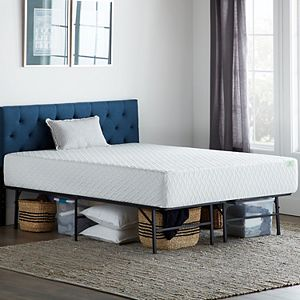 Lucid Dream Collection 10-in. Plush Memory Foam Mattress with Platform Bed Frame Twin XL