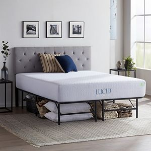 Lucid Dream Collection 12-in. Medium-Plush Gel Memory Foam Mattress with Platform Bed Frame Twin XL