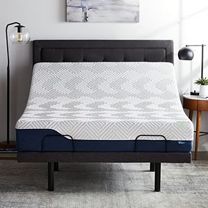 Lucid Dream Collection 12-in. Gel and Aloe Vera Hybrid Mattress with Elevate Adjustable Bed Base Queen