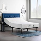 Lucid Dream Collection 10-in. Plush Memory Foam Mattress with Essential Adjustable Bed Base