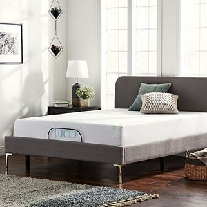 Lucid Dream Collection 12-in. Medium-Plush Memory Foam Mattress with Essential Adjustable Bed Base