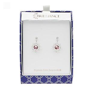Brilliance Star Drop Earrings with Swarovski Crystal