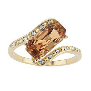 Brilliance Emerald Cut Ring with Swarovski Crystal