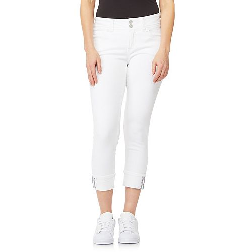 Juniors' WallFlower Insta Soft Ultra Mid-Rise Cropped Jeans