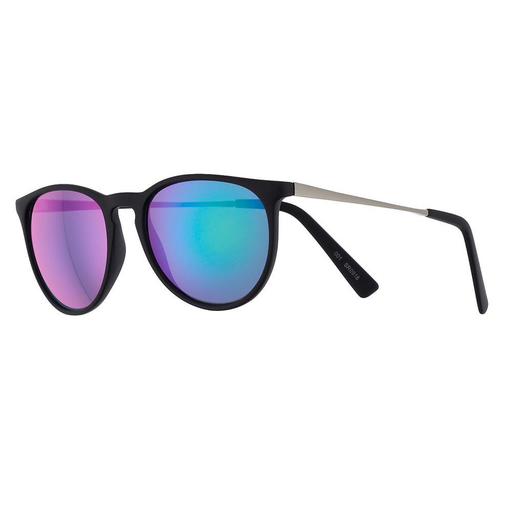Women's FILA™ 53mm Keyhole Mirrored Round Sunglasses